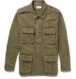 Saint Laurent - Cotton And Linen-Blend Field Jacket