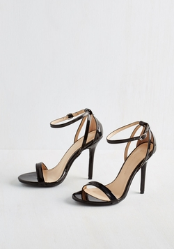 ModCloth - Think Posh-Itive Heel In Noir Sandals