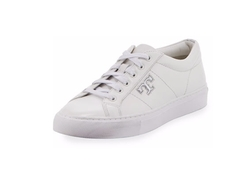 Tory Burch - Chace Leather Low-Top Sneakers