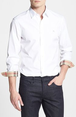 Burberry Brit  - Henry Trim Fit Stretch Cotton Sport Shirt