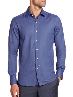 Saks Fifth Avenue Collection  - Cotton Sportshirt