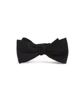 Jack Threads - Skinny Tie Madness Black Cotton Bow Tie