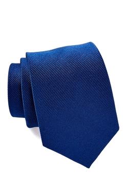 Isaac Mizrahi - Solid Navy Silk Tie
