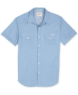 Lucky Brand  - Short-Sleeve Western Chambray Shirt
