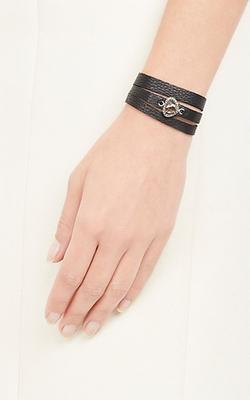 Feathered Soul - Diamond Charm Leather Wrap Bracelet