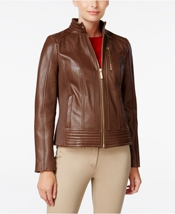 Michael Michael Kors - Ribbed Leather Jacket