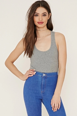 Forever21 - Ribbed Racerback Tank Top