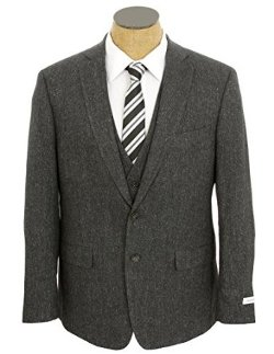 Calvin Klein  - Mens Slim Fit 3 Piece Wool Blend Suit