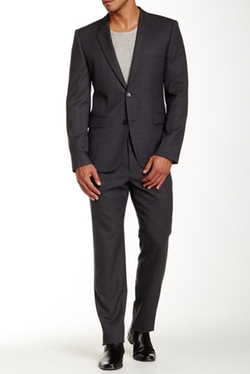 Hugo Boss  - Aeron Hamen Two Button Notch Lapel Wool Suit