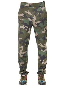 Valentino  - Camo Printed Cotton Jogging Pants