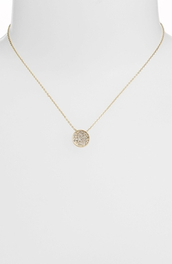 Stephan & Co. - Pavé Circle Pendant Necklace