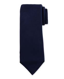 Kiton   - Textured Solid Silk Tie