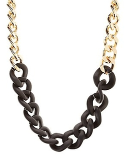 Charlotte Russe - Color Block Chain Necklace