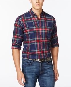 Club Room - Long Sleeve Tartan Shirt