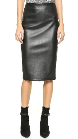 5th & Mercer  - Faux Leather & Jersey Skirt