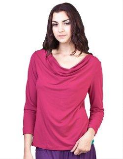 Nadi Sama LLC  - Cowl Neck Long Sleeve Shirt