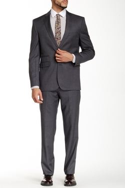 Vince Camuto  - Notch Lapel Two Button Wool Suit