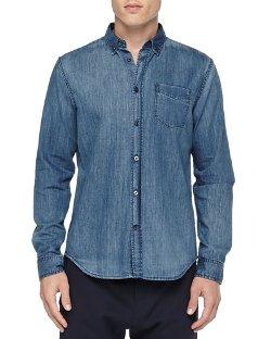 Vince  -  Denim Button-Down Shirt