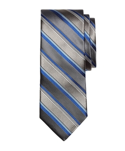 Brooks Brothers - Wide Stripe Textured Silk Tie