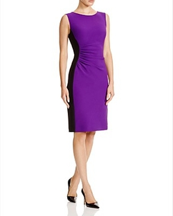 Diane Von Furstenberg  - Laura Color Block Ruched Sheath Dress
