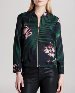 Ted Baker  - Azeeza Palm Floral Bomber Jacket