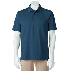Grand Slam  - Airflow Solid Pocketed Performance Golf Polo Shirt