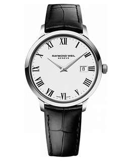Raymond Weil - Toccata Silver Tone & Leather Watch