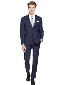 Z Zegna  - Wool & Mohair Blend Fil-a-fil Suit