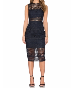 Nicholas - Braided Lace Fitted Bandeau Dress