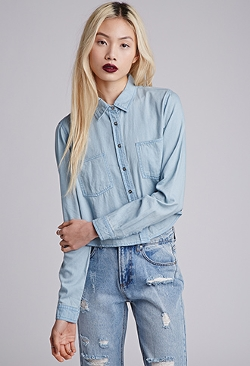 Forever 21 - Boxy Chambray Shirt