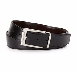 Salvatore Ferragamo - Reversible Leather Buckle Dress Belt