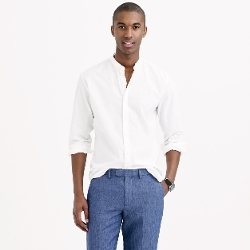 J.Crew - Secret Wash Band-Collar Shirt