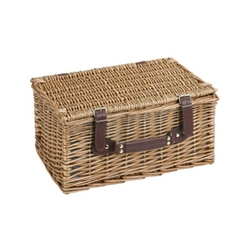 VonShef - Deluxe 2 Person Traditional Wicker Picnic Basket