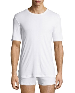Hanro - Sea Island Cotton Crewneck Tee Shirt