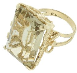 Artisans Alcove Estate Jewelers - Vintage Citrine Gold Cocktail Ring