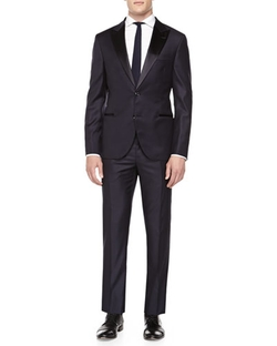 Brunello Cucinelli - Wool Peak-Lapel Tuxedo Suit