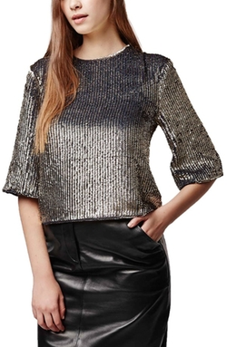 Topshop  - Sequin Top