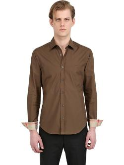Burberry  - Brit Stretch Cotton Poplin Shirt
