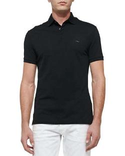 Ralph Lauren Black Label  - Mesh Knit Polo Shirt