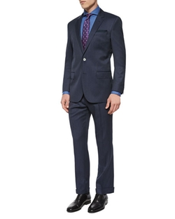 Boss Hugo Boss  - Slim Fit Striped Two-Piece Wool Suit