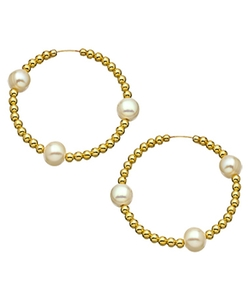 Jacqueline Pinto - Beaded Hoop Earrings