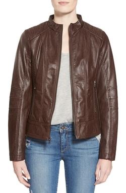 Guess - Faux Leather Scuba Jacket
