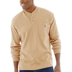 FireZero By Wolverine  - Flame-Resistant Long-Sleeve Henley Shirt