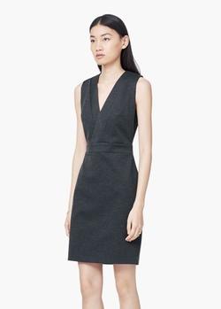 Mango - V-Neckline Fitted Dress