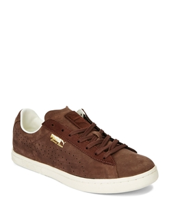 Puma - Leather Lace-Up Sneakers
