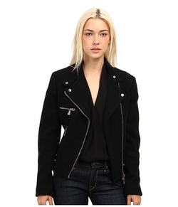 McQ - Melton Cropped Biker Jacket
