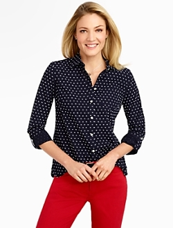 Talbots - Clipped-Dot Shirt