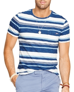 Polo Ralph Lauren - Striped Indigo Jersey Tee