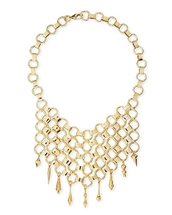 Dannijo - Thor Golden Bib Necklace