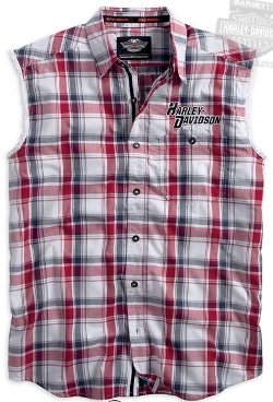 Harley-Davidson - Wrinkle Resistant Plaid Sleeveless Shirt
